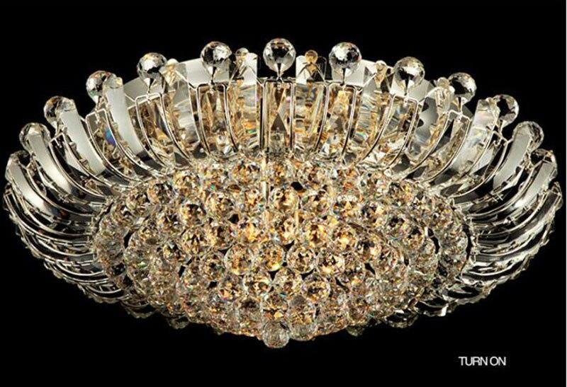 Plafoniere Moderne Per Soggiorno : Acquista moderna plafoniera di cristallo lussuoso incasso a filo led