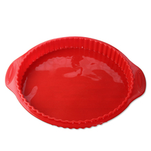 Round Silicone Pizza Baking Mold Dessert Bread Cupcake Food Maker Kicthen Cook Tools Accessories Supplies Gear Stuff Product