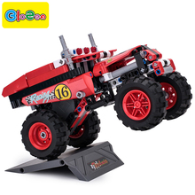 Technic compatible pull back car toy truck enlighten bricks building blocks set block educational toys blocks building bricks