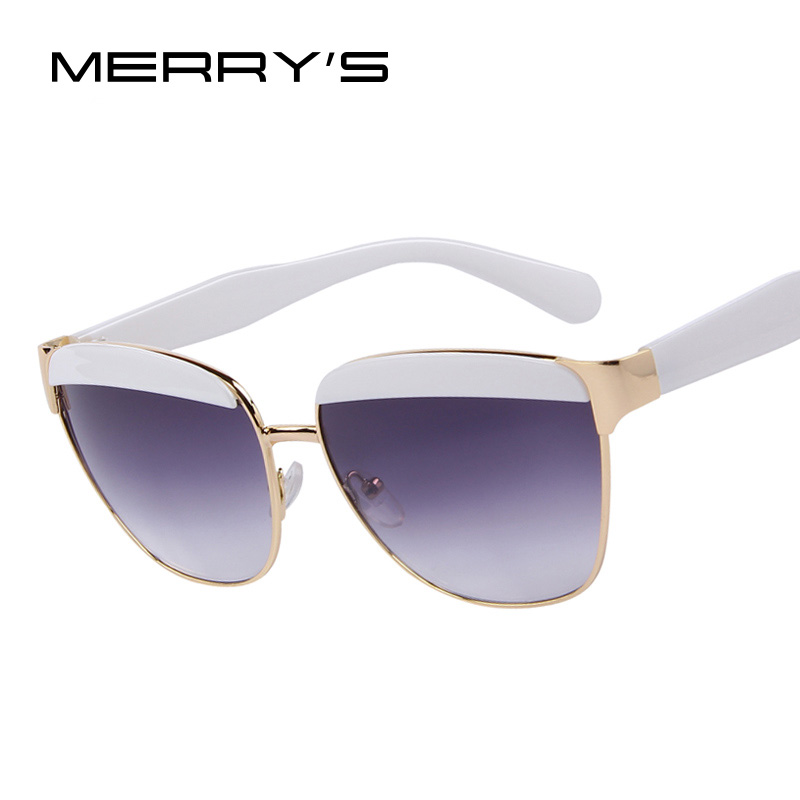 MERRYS Brand Designer Eyebrows Frame Gradient Women Sunglasses Classic Butterfly Women Sunglasses UV400<br><br>Aliexpress