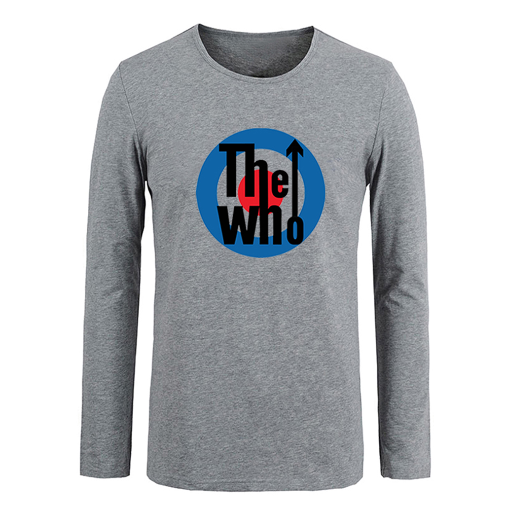 The Who Band Pattern Long T Shirt Men Fitness Boys Tshirt Rockstar Energy Drink T-shirt Unisex Streetwear Cotton Vacation Tops