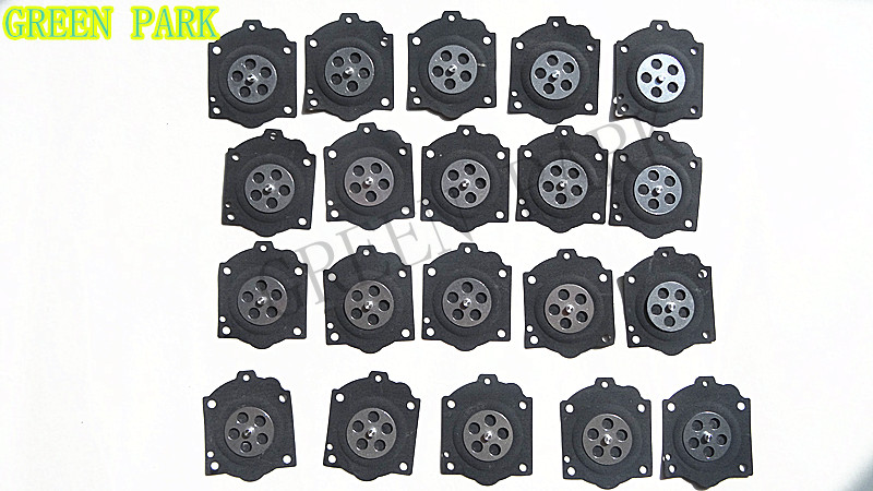 20PCS METERING DIAPHRAGM CARBURETOR GASKET FIT WALBRO HDB WG WJ D10-WB MCCULLOCH PM610 650, CHAINSAW GLINDER CARB REPAIR PARTS<br>