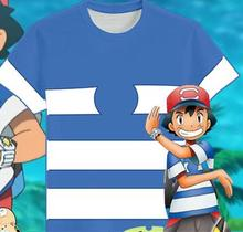 Pokemon Pocket Monsters Ash Cosplay Shirt Costume