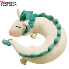 new 25*10cm Creative white Chinese dragon Plush Toys Dinosaur cloth doll gray doll neck pillow cushion stuffed plush baby gift