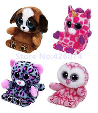 New Beanie Big Eyed Stuffed Animals Dog Owl Unicorn Leopard Phone Holder Screen Cleaner Kids Plush Toys For Children 14CM(China)