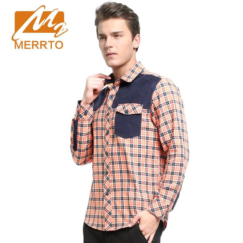 MERRTO Man Warm Autumn Winter Camping&amp;Hiking Shirt Quality Plaid Brand Long Sleeve Fit Comfortable Soft Spots Shirt #19160<br><br>Aliexpress