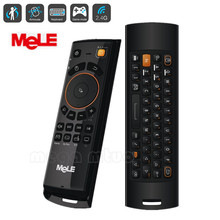 2.4GHz Fly Air Mouse Mele F10 Deluxe Wireless Keyboard Remote Control with IR Learning Function for Android TV Box(China)