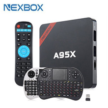 NEXBOX A95X Smart TV Box Amlogic S905X Quad core 2G+8G 16G 64 Bit Android 6.0 4K 2.4GHz WiFi Media Player Android Set Top Box