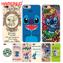 HAMEINUO Lilo and Stitch Quote Ohana Means Family cell phone Cover case for iphone 4 4s 5 5s SE 5c 6 6s 7 8 X plus(China)