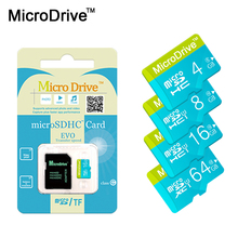 Microdrive Top sale Memory Card 4GB 8GB 16GB 32GB 64GB Micro SD/TF card Class 10 flash card For Mobile phone tablet PC+ Adapter(China)