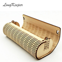 LongKeeper Retro Handmade Natural Bamboo Cylinder Glasses Case Sunglasses Protective Sleeve Wooden Storage Box YJH01(China)