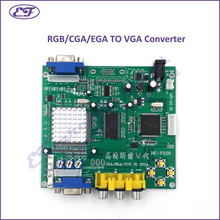 Wholesale 10pcs/lot RGB/CGA/EGA TO VGA Converter Board with one output-Video Board for arcade game machine