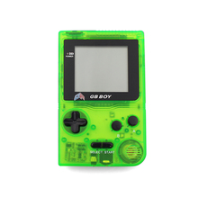 "Kong Feng GB Boy Classic Pocket Handheld Game Console 2.45"" Game Player with Black and White display screen Color Clear Green"