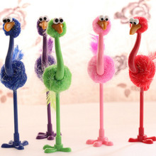 1 PCS Cartoon Ball Point Pen Children Gift Colorful Ostrich Ball Pen Wholesale Creative Toy Pen School Stationery Express