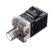 Black Connector RJ45 CAT6 for Keystone Jack Module Network LAN Internet Modem Connector Module