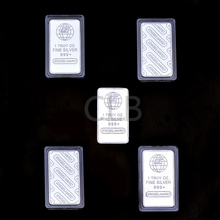 Wholesale 1 OZ  Fine Silver Bar Plated Silver Bullion Bars with The Words of Engelhard  Silver Bars for German Decor.