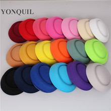 "Free shipping 6.3""(16cm) 19color mini top fascinator hats, hot sale party hats,DIY hair accessories pillbox hats MH018(China)"