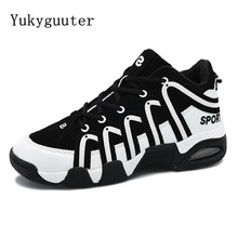 Men Basketball Shoes Outdoor Sport Sneakers Athletic Shoes Lace up Anti-slip Ankle Boots Plus Size High Quality Comfortable(China)