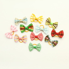 Armi store Handmade Accessories plaid Ribbon Bow 6029006 Pet Dog dressed head flower Wholesale.