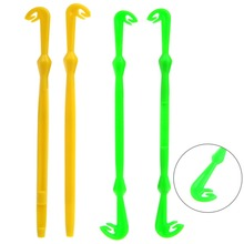 Easy Hook Loop Tyer & Disgorger Tool Tie Fast Knot Tying Tool for Fly Fishing Hook Tools Line Tier Kit Yellow/Green Plastic 2pcs