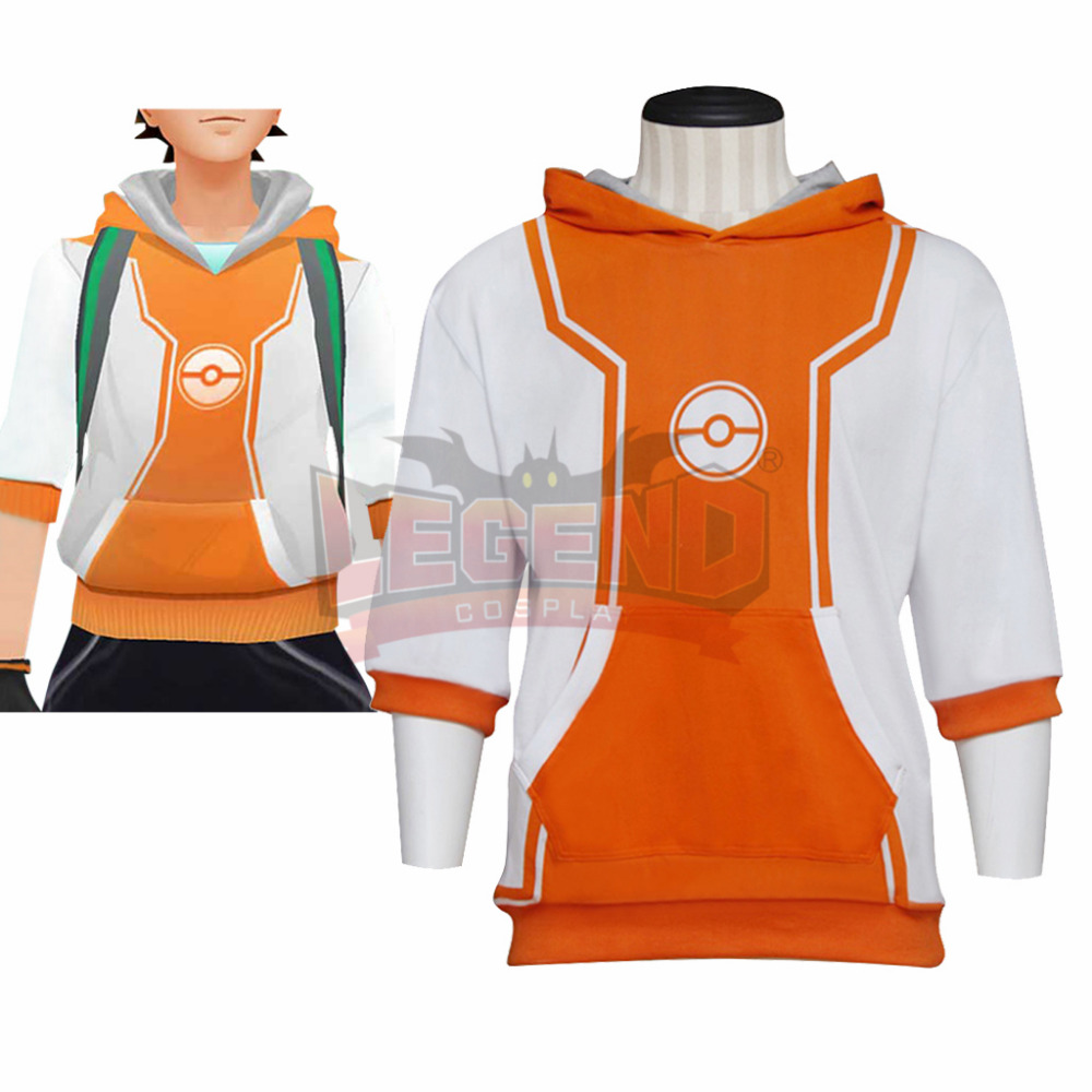 Pokemon Pocket Monster Trainer Male Orange Cosplay Costume adult costume custom made