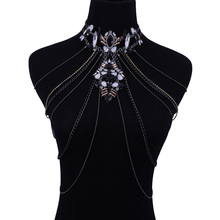 Fashion Sexy Belly Chains, Charm Exaggerated Night Club Party Long Prethoracic Body Chain Statement Necklace, Body Jewelry.
