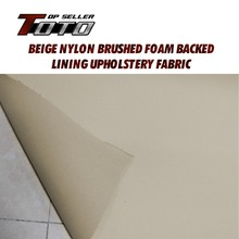 Car auto pro ceiling UPHOLSTERY roof lining fabric Material cover headliner foam backing Gray / Beige Heat Sound Insulation