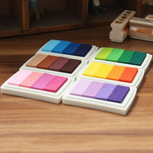 6pcs/set Homemade DIY Gradient Color ink Pad Multicolour Inkpad Stamp Decoration Fingerprint Scrapbooking Accessories C