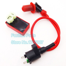 Racing Ignition Coil & 6 pin AC CDI Box For GY6 50cc 125cc 150cc Moped Scooter ATV Go Kart Motorcycle Motocross(China)