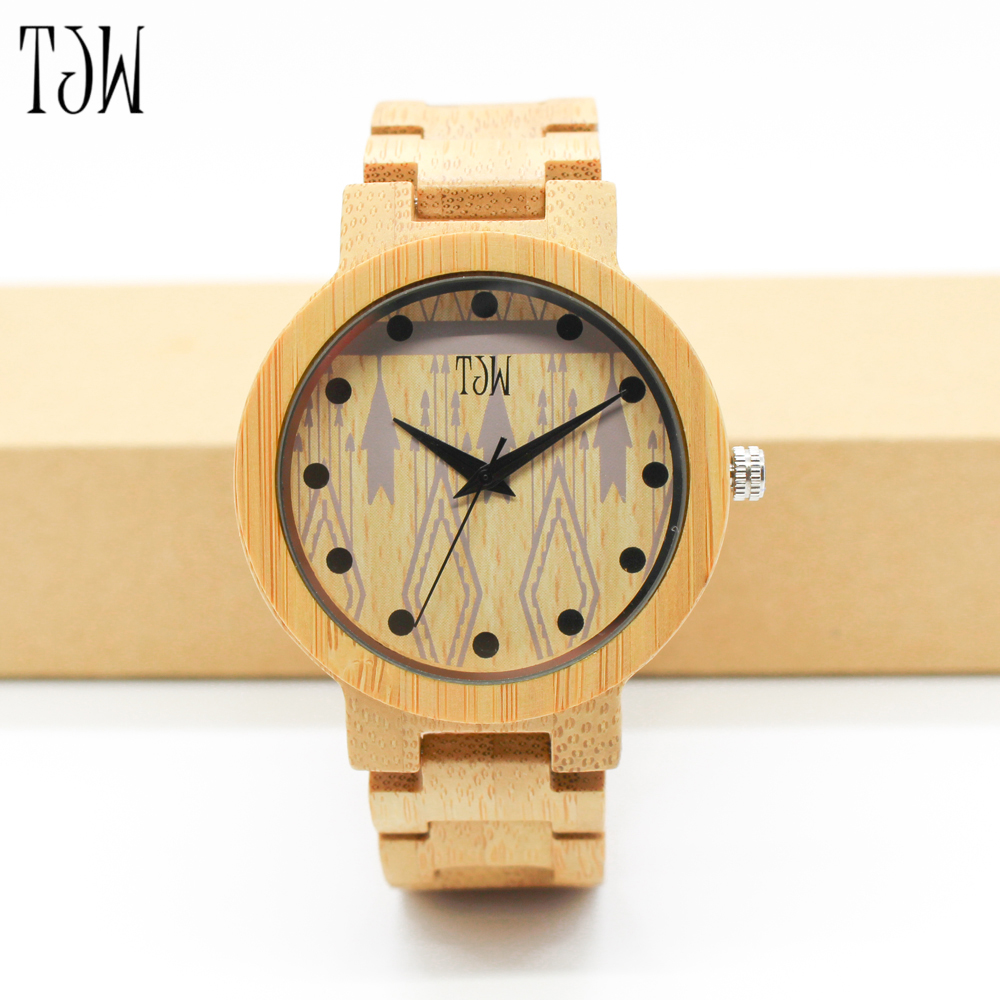 TJW New Top Brand Watch Wood Watches Men Waterproof Luminous Clock Men Women Wooden Watch Relogio Feminino Masculino 2016<br>