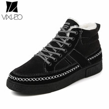 Buy VIXLEO Winter Men Ankle Boots Warm Suede Casual Shoes High Working Martin Boots Fashion Fur Snow Leisure Handmade Plush for $21.92 in AliExpress store