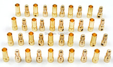 50pairs 3.5mm Gold Bullet Banana Connector Plug Male Female for ESC Motor Lipo RC battery Part