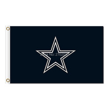 Black Star Dallas Flag Cowboys Banner World Series 2016 3ft X 5ft Premium Team Jersey Banner Coutom Dallas Cowboys Flag(China)