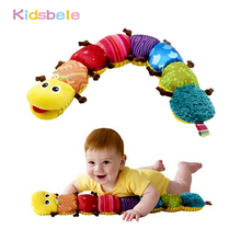 Baby Toys Musical Stuff Caterpillar With Ring Bell Cute Cartoon Animal Plush Doll Early Learning Educational Kids Toys(China)
