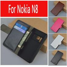 J&R Brand Leather Wallet Case for NOKIA N8 Flip Cover with Stand and Bank Card holder 9 Colors Available