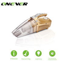 Onever Multi-function Car Vacuum Cleaner Tire Pressure LED Light Tire inflatable Pump12V 120W Tire Inflator(China)