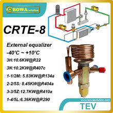 CRTE-8 R410A 12.66KW cooling capacity external equalizer TEV with ODF connnection tube for water cooled condensing units(China)