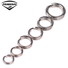 100pcs Fishing Split Rings for Crank Hard Bait Silver Stainless Steel 3#-8# Double Loop Split Open Carp Tool Fishing Accessories
