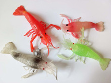 High simulation soft transparent lobster model props children play leisure house toys marine animals(China)