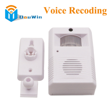 Alarm with recoding function the intelligent greeting warning doorbell Infrared IR Detect Welcome Alarm Inductive Welcome(China)