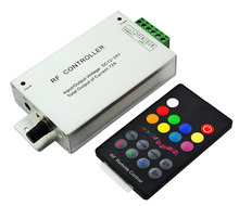RF Music RGB Led Controller with 18 keys Remote Controller Music Controller For Led Strips Lights DC12-24V(China)