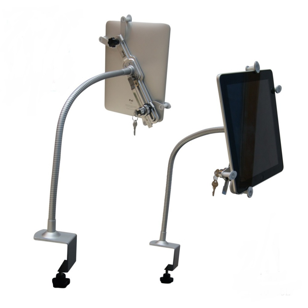 Flexible adjustable Ipad display stand holder Tablet PC display gripper Samsung clamp  for 10-12.6 tablet<br>