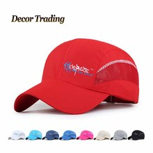 2016 Spring Summer   Quick Dry Sun Hat Baseball Cap UV Protect Thin Simple Snapback Net Hat for Men and Women