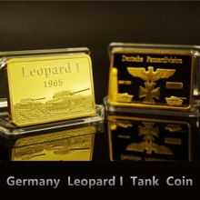 Germany Leopard I Tank Gold Bar Deutschland Commemorative Coins German Gold Bullion Prussia Eagle Brand New Souvenir Coin