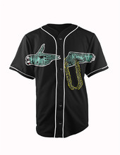 Real American Size stay trill 3D Sublimation Print Custom made Button up baseball jersey plus size