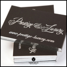 Classic Matte Black Print Business cards Customized Silver Edge color/Letterpress/Debossed Visit/Name cards 600gsm Special paper(China)