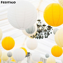 9PCS Mixed 6/8/10inch Wedding Party Decorative Paper Lanterns Birthday Party Baby Shower Chinese Sky Hanging Lanterns Home Decor(China)