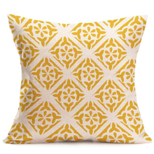 Ouneed Gifts Yellow 43 x 43cm Bohemia Geometry Print Square Pillow Cover Cushion Cover Pillowcase Zipper Closure
