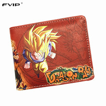 FVIP The Classic Anime Dragon Ball Z Wallet Young Men and Women Students Short Wallets Japanese Cartoon Comics Purse Dollar(China)