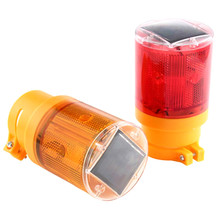 Solar LED Emergency Lamp 100 LM Bright Flashlight Traffic Warning Light With Solar Panel Battery Blinker For Outdoor Lighting(China)